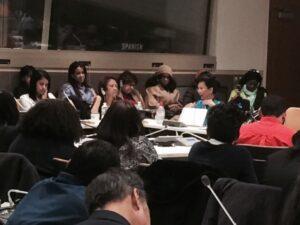 A presidente do PSDB-Mulher SP, Nancy Ferruzzi Thame presente à plenária de onde envia relatos de encontros com mulheres e lideranças de diferentes países que discutem os desafios enfrentados para se alcançar a igualdade entre homens e mulheres