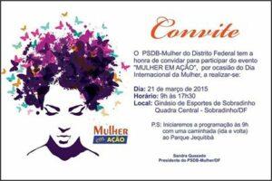 PSDB Mulher DF Dia Internacional da Mulher