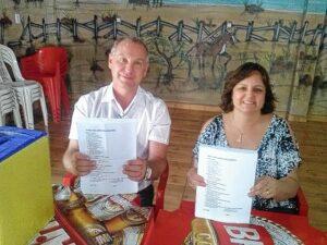 Odair Mazzo e a nova presidente do PSDB de Itapuí, Solange Amantini