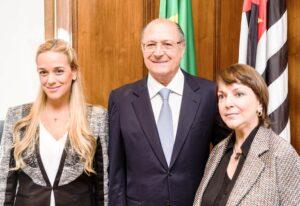 Governador recebeu as venezuelanas Lilian Tintori e Mitzy Capriles, esposas de presos políticos