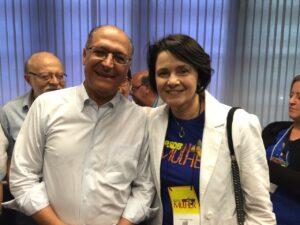 Com o governador Geraldo Alckmin, Nancy reforça a parceria do Secretariado com o Governo do Estado em favor das políticas de gênero