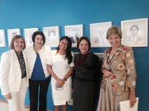 Terezinha Nunes, Nancy Thame, Thelma de Oliveira, Solange Jurema e Yeda Crusius
