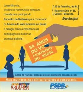 84 anos do voto feminino Brasil em Mesquita