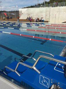 Inauguração piscina para deficiente em Lahr