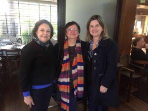 Solange Jurema, Fátima Jordão e Regina Arns
