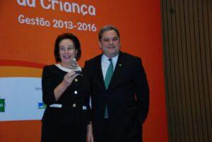 Prefeita Bel durante o reconhecimento; Lençóis é a única cidade do Estado e está entre as cinco do Brasil