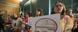 Bancadas femininas da Câmara e do Senado lançam a cartilha Mais Mulheres na Política. .(Foto: Marcelo Camargo/Agência Brasil)