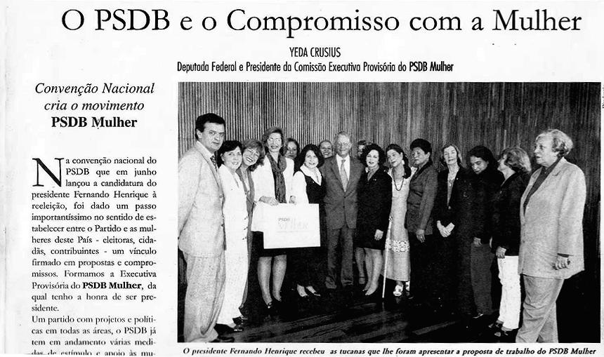 NEGOCIAÇÃO PARA CRIAÇÃO DO PSDB-MULHER
