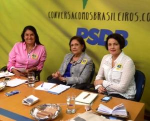 Thelma, a nova prefeita de Chapada dos Guimarães, Solange Jurema e Nancy Thame, vereadora de Piracicaba Foto: Tania Ribeiro