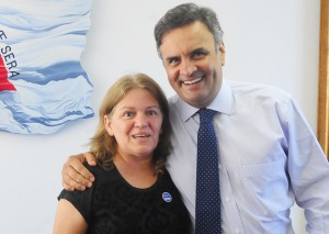 Tiana Azevedo e Aécio Neves Foto: George Gianni/PSDB